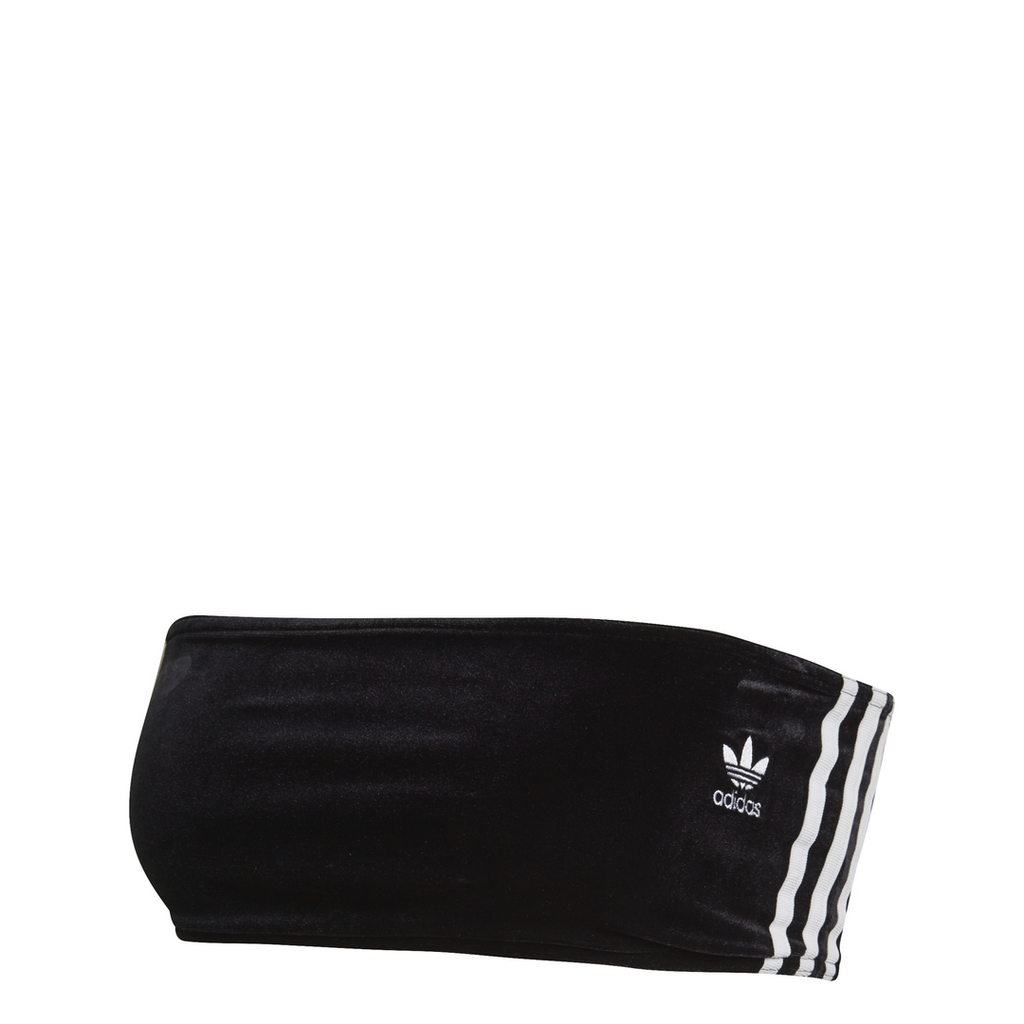 adidas Originals 3-stripes Velour Bra Top  Black