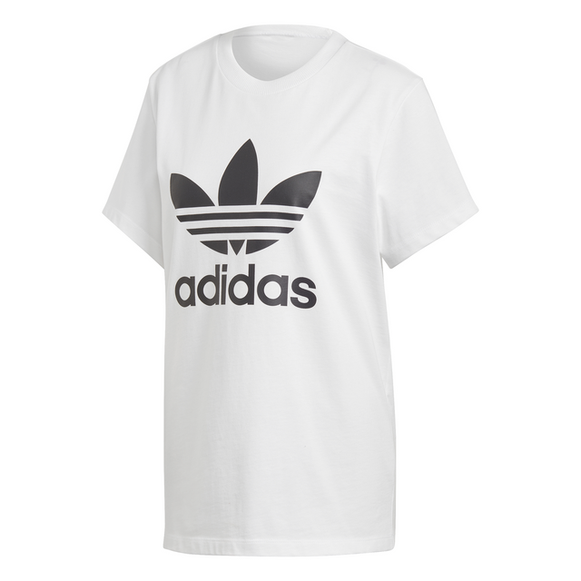 adidas Originals Women 's White Boyfriend Trefoil Tee