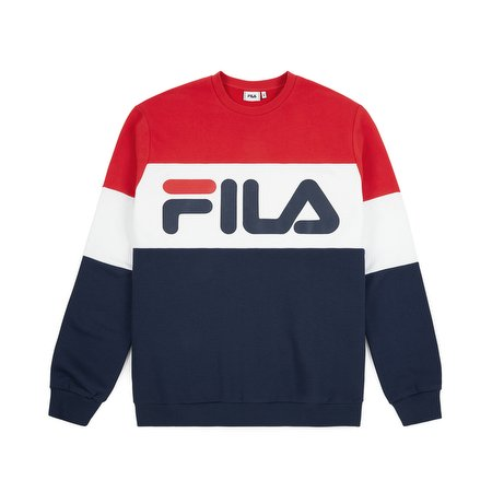 Fila Straight Blocked Crewneck True Red