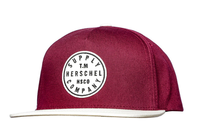 Herschel Supply T.M. Snapback Cap Windsor Wine 1079-0091