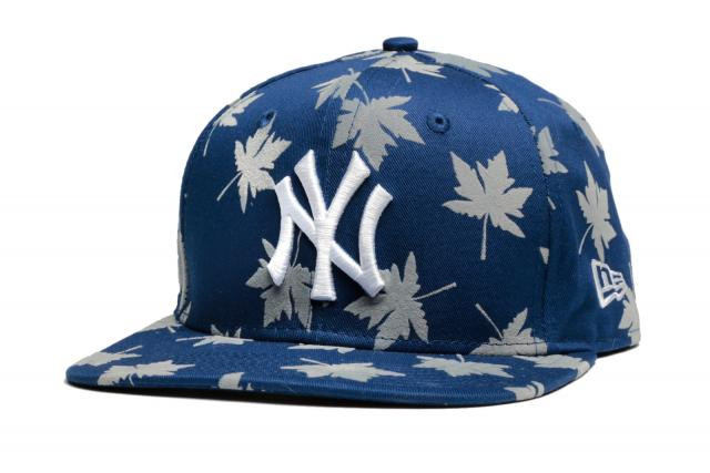 New Era Cap 950 Mens Flock Leaf Snap NY Blue