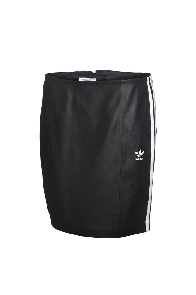 adidas Originals 3-Stripes Leather Skirt