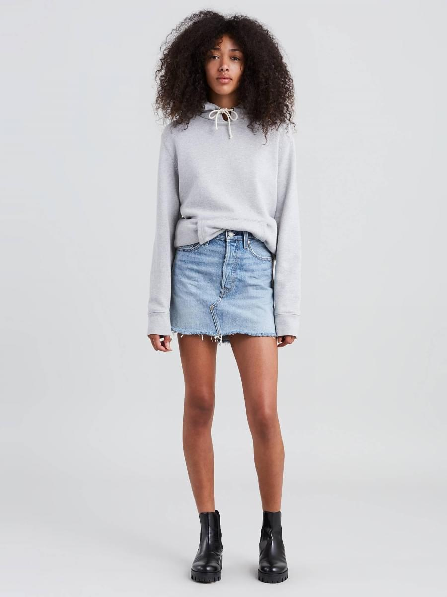 Levi's Deconstructed Mini Diamond Skirt
