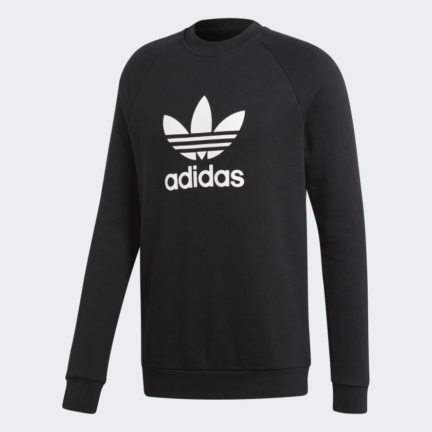 adidas Originals Trefoil Warm-Up Sweatshirt Black