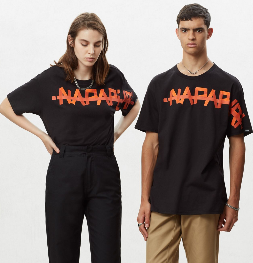 Napapijri Tribe Unisex Short sleeve t-shirt Solt Black