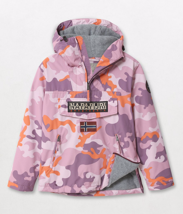 Napapijri Tribe Rainforest Pink Camo Jacket