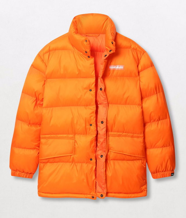 Napapijri Tribe Ari Unisex Puffer Jacket Orange