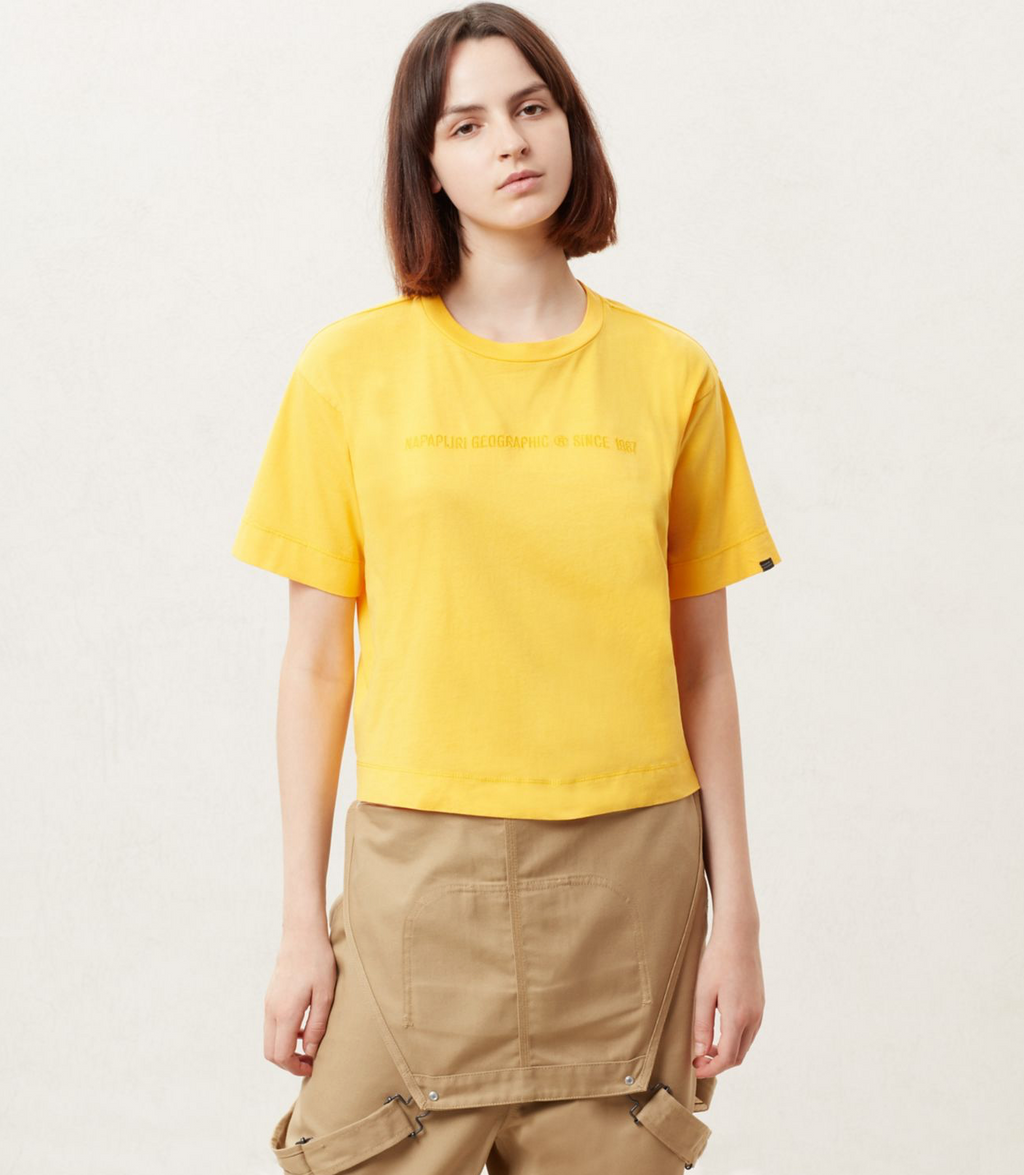 Napapijri Tribe Cropped  Short sleeve t-shirt Sait Fusion Yellow