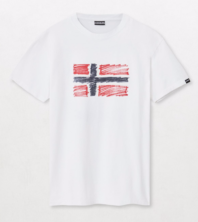 Napapijri Tribe Unisex Short sleeve t-shirt Sten Bright White