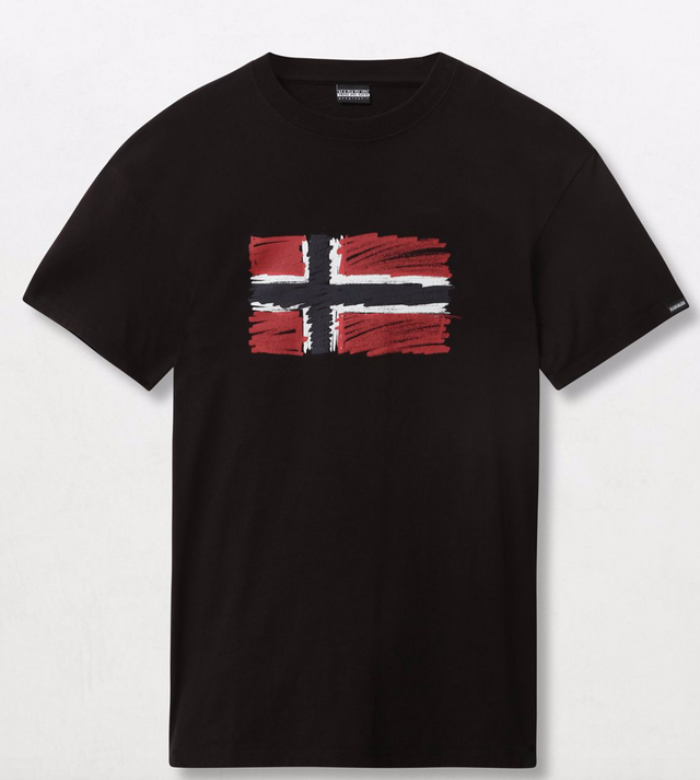 Napapijri Tribe Unisex Short sleeve t-shirt Sten Black
