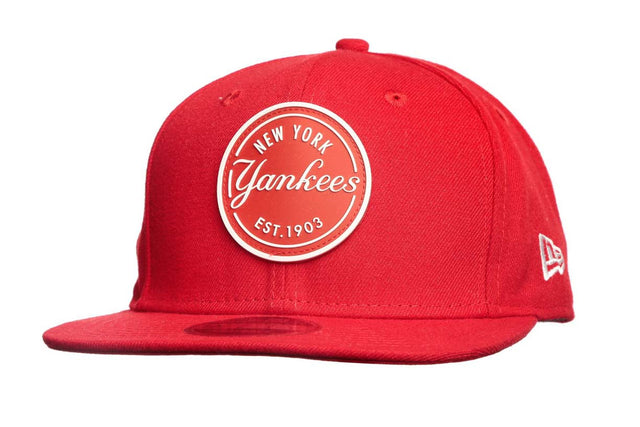 New Era 950 Mlb Rubber Emblem NY Red Snapback
