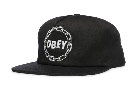 OBEY Chains Snapback Black