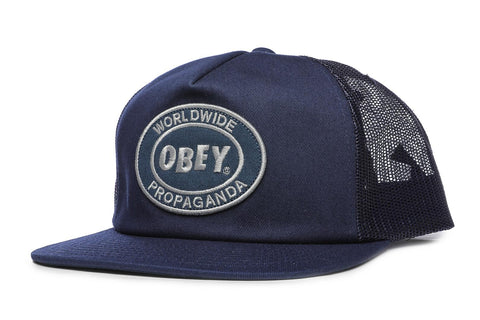 OBEY Oval Patch Trucker Cap Navy