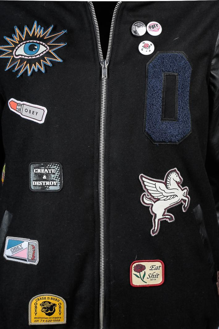 OBEY Obey Vacancy Varsity Jacket