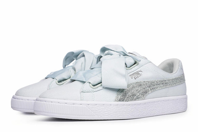 Puma Basket Heart Canvas Women's Trainers Blue