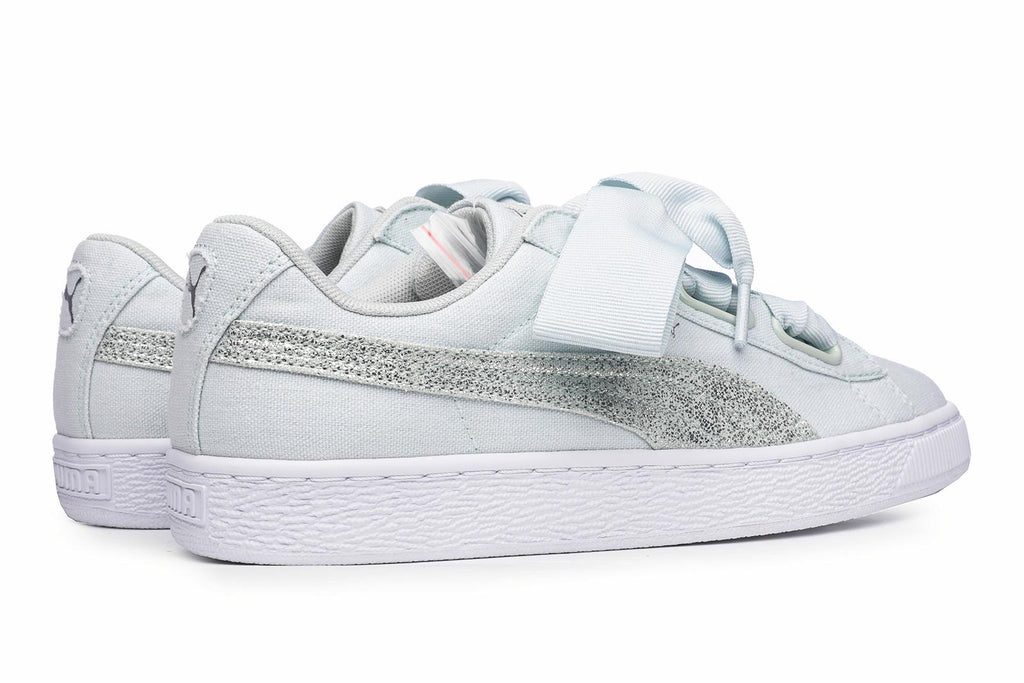 best website b168b 52bf7 Puma Basket Heart Canvas Women's Trainers Blue – Brands24