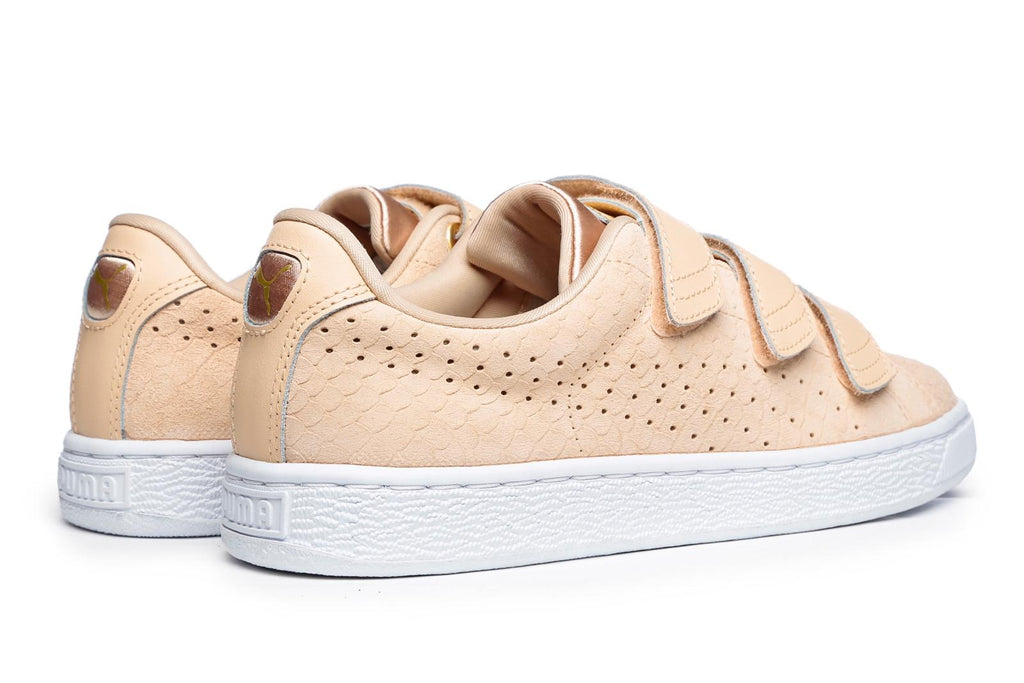 wholesale dealer 95542 f1818 Puma Basket Strap Exotic Skin Natural Vache Trainers – Brands24