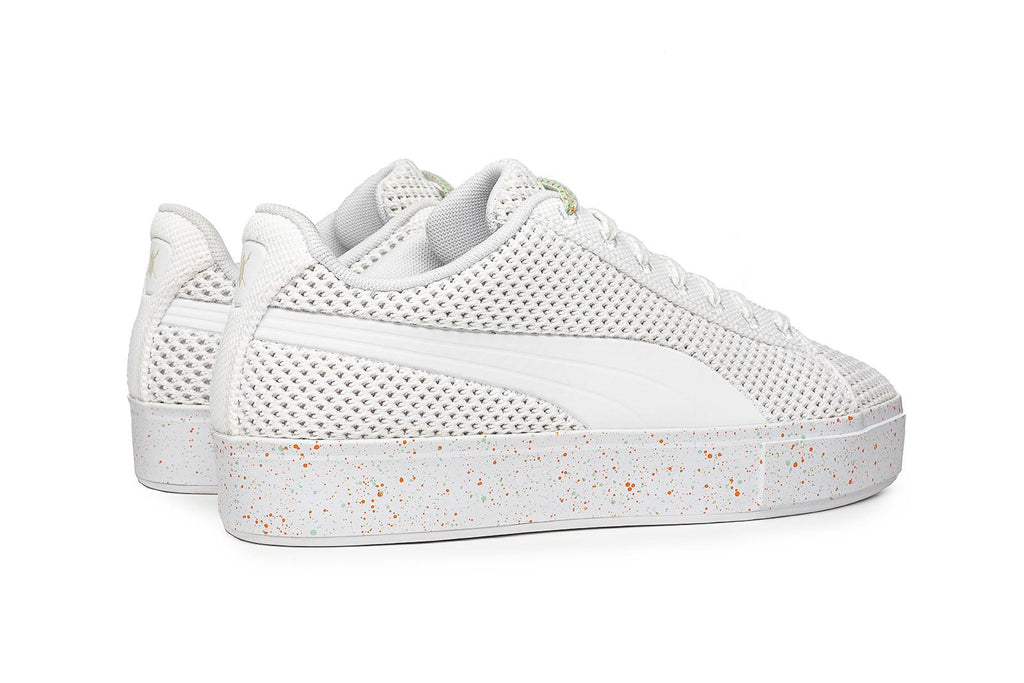 Puma x DP Platform Knit Splatter White Sneakers