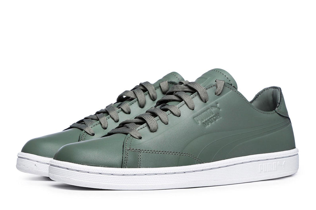 différemment 0f578 228ed Puma Match Clean Trainers - 36 / Green / Leather