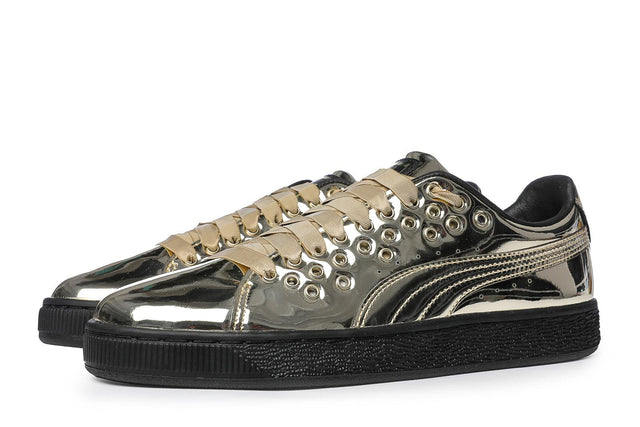 Puma Basket XL Lace Metal Women's Sneakers Gold