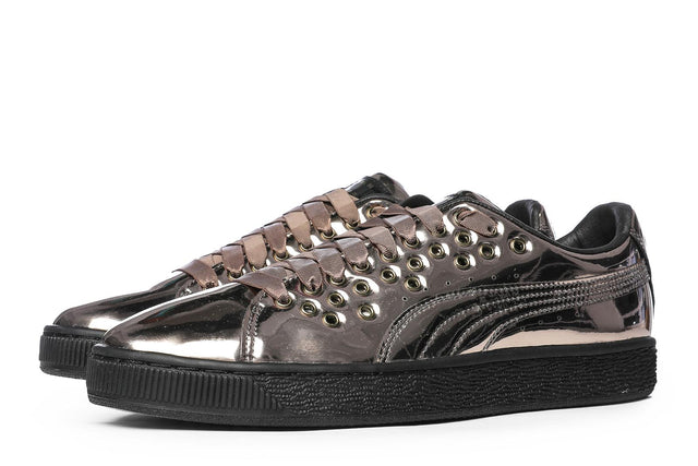 Puma Basket XL Lace Metal Women's Sneakers Black