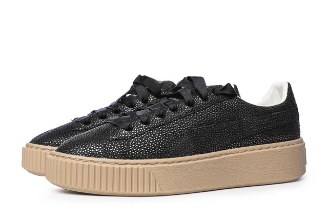 Puma Basket Platform Lux Women's Sneakers Black