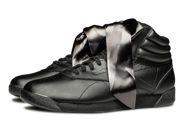 Reebok Classic Freestyle Hi Satin Bow Black Sneakers CM8904