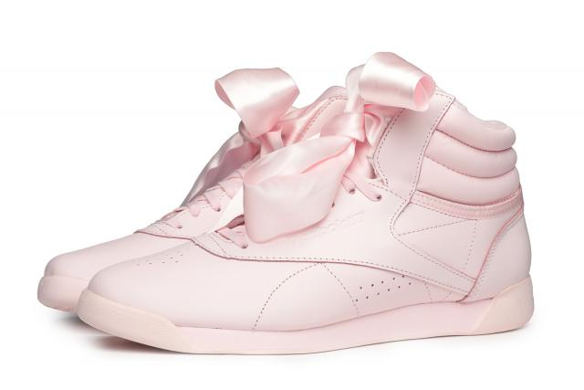 Reebok Classic Freestyle Hi Satin Bow Porcelain Pink Sneakers CM8905