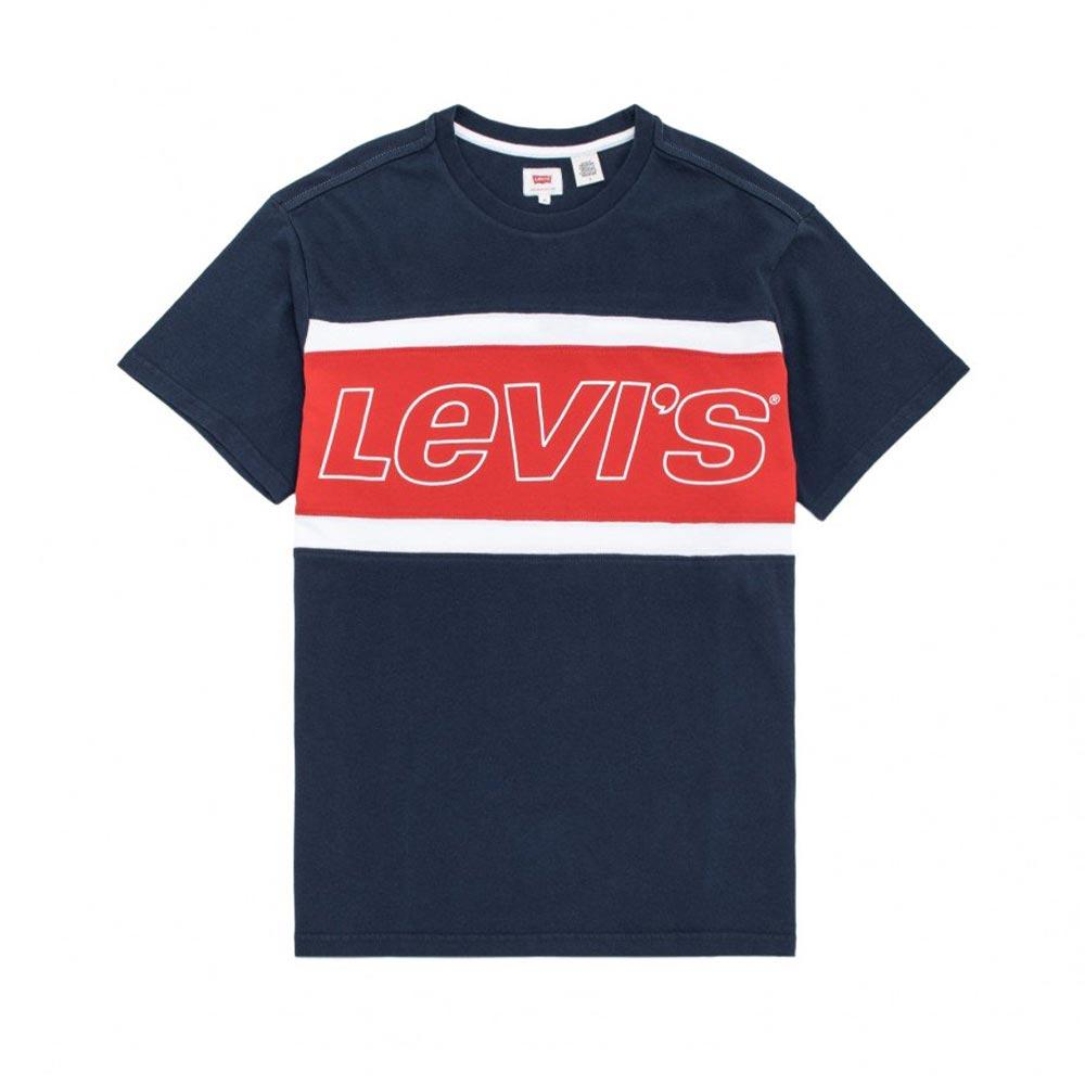 Levi´s® Colorblock Tee Navy/ Red