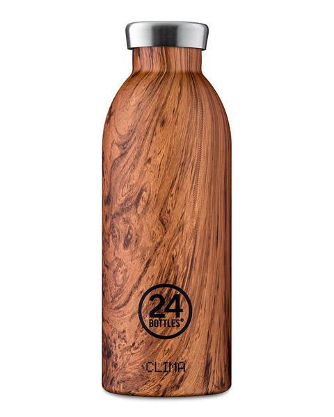 24Bottles Clima Bottle Sequoia Wood 500 ml