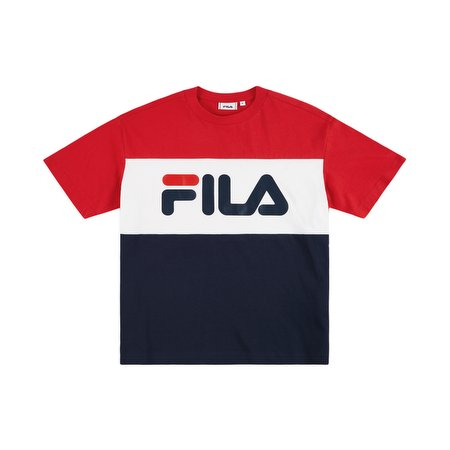 Fila Women's Allison T-shirt Black Iris-Red-Bright White