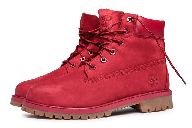 Timberland Women's 6-Inch Premium Waterproof Boots Red