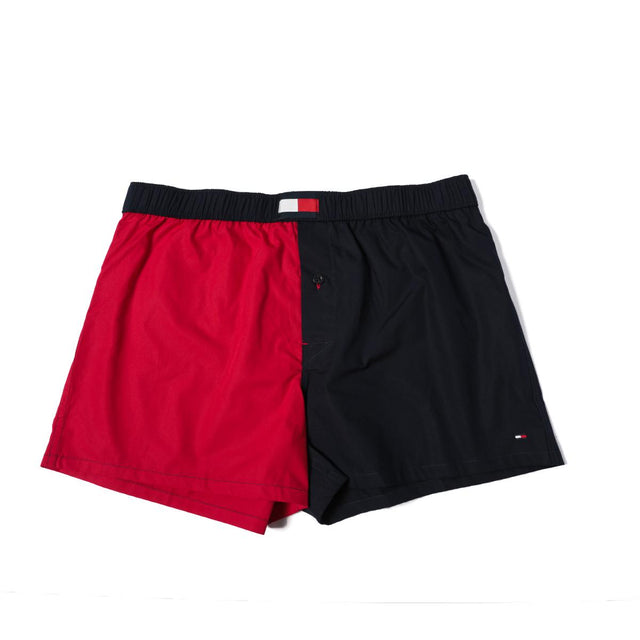 Tommy Hilfiger Cotton Woven Boxer Navy / Red