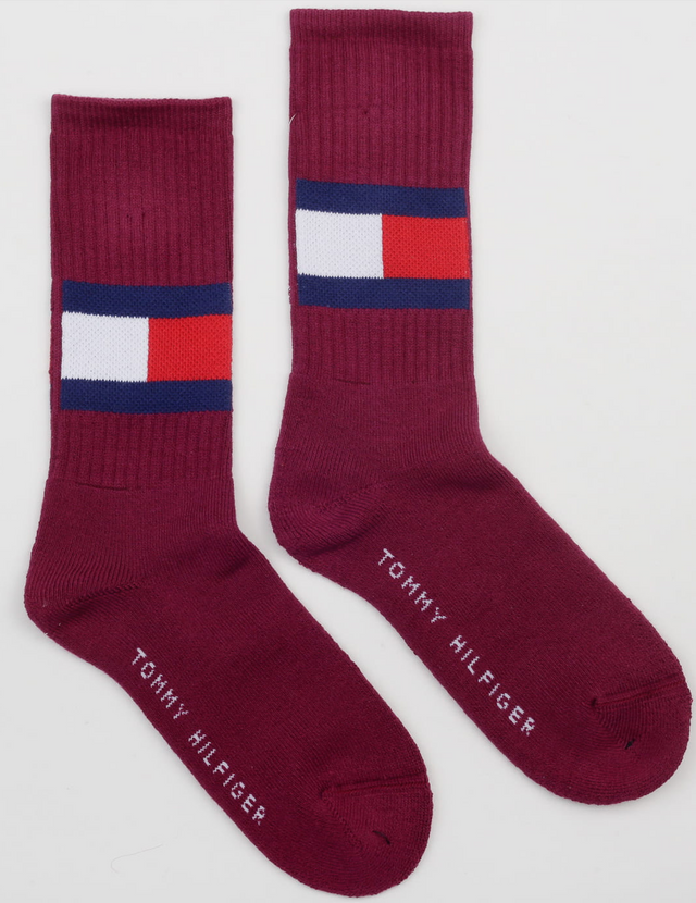 Tommy Jeans Flag Socks Bordeaux