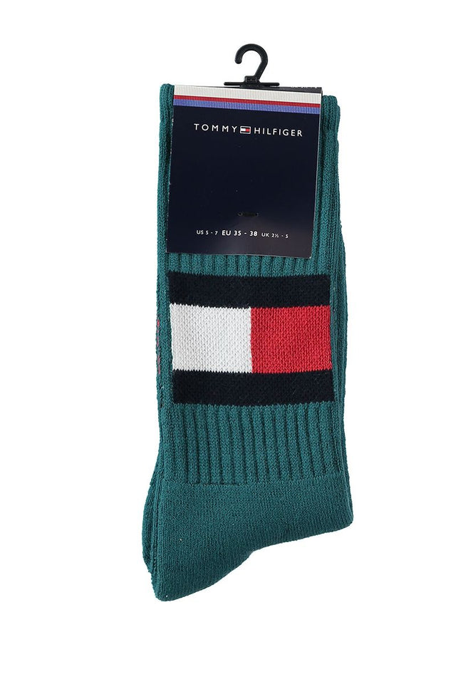 Tommy Jeans Flag Socks Light Petrol Green