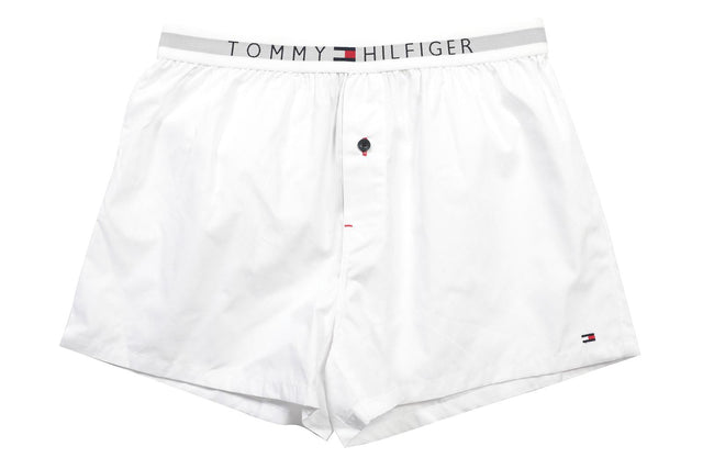 Tommy Hilfiger Cotton Woven Boxer Icon White
