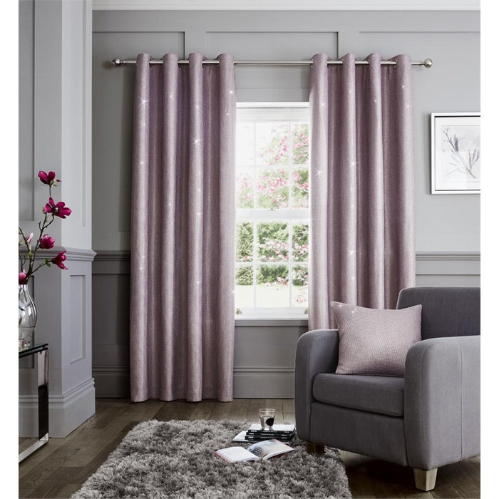 Catherine Lansfield Glamour Weave Eyelet Curtains