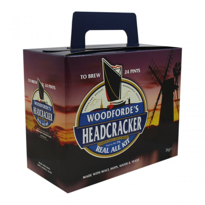 Woodfordes Headcracker (ABV 7%) 24 Pint Real Ale Kit