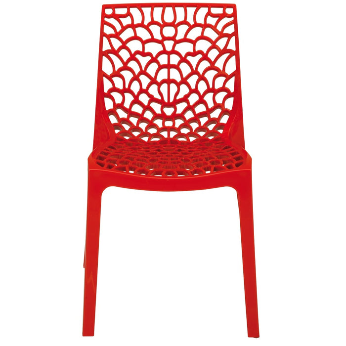 Brackenstyle Neptune Polypropylene Chair - Rosso Red