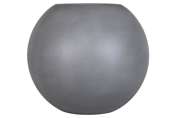 Brackenstyle Light Fibrestone Round Pot - Slate Grey