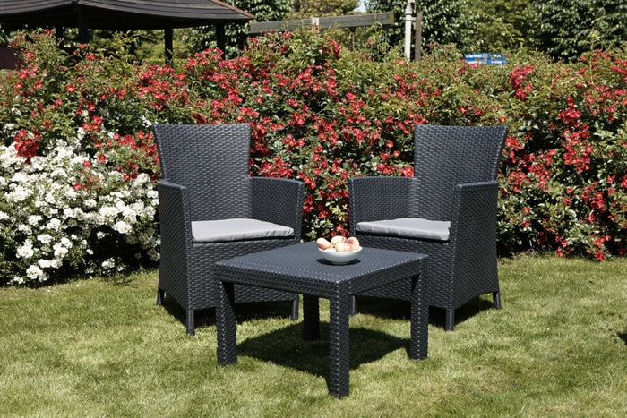Allibert Rosario Bistro Set - Graphite Grey
