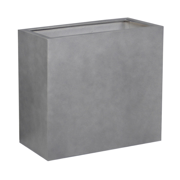 Brackenstyle Light FIBREstone Pot Rectangle Slate Grey - Large