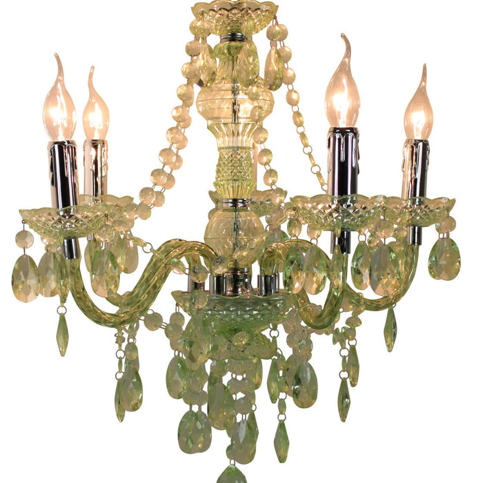 Princess Pistachio Electric Five Light Pendant