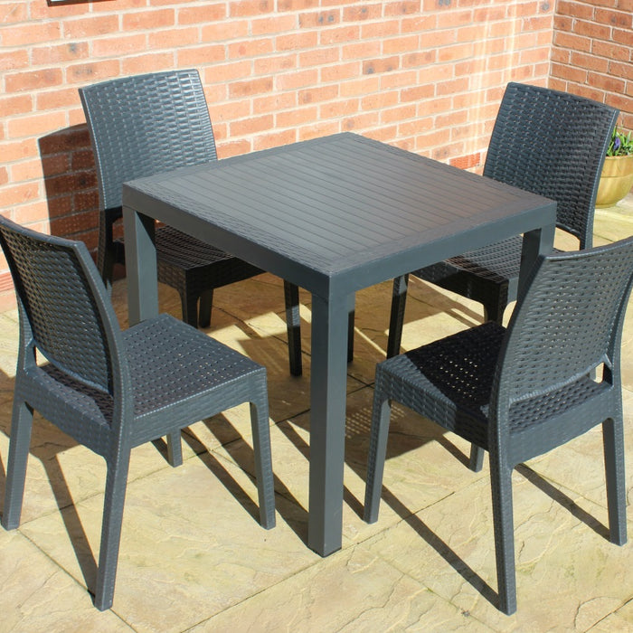 Brackenstyle Madrid Table and 4 Side Chairs Set