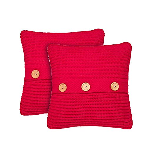 Catherine Lansfield Chunky Knit Pair of Cushion Covers - 45x45cm