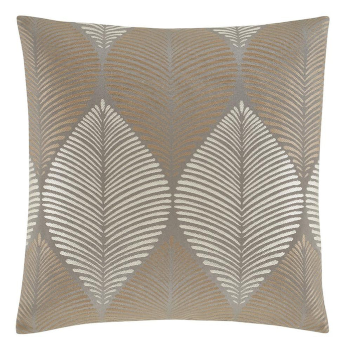 Catherine Lansfield Leaf Jacquard Cushion Cover Natural
