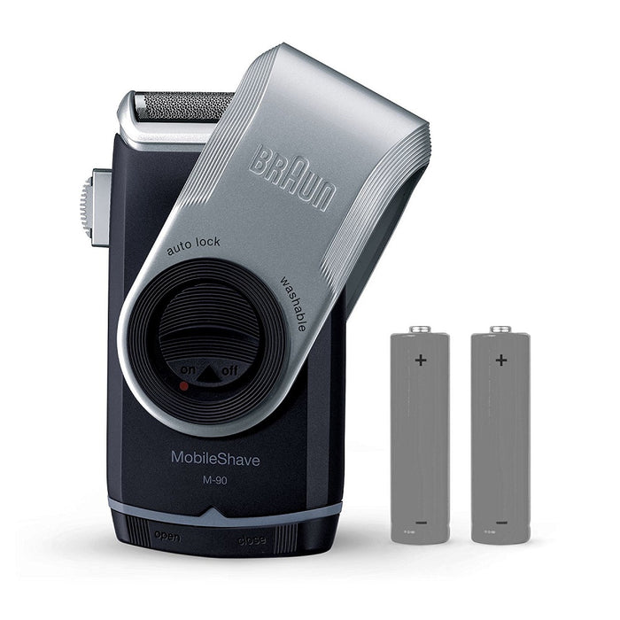 Braun M90 Pocket Go Electric Shaver with Precision Trimmer