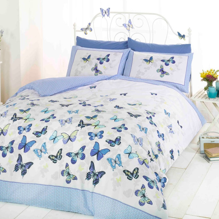 Rapport Art Flutter Blue Duvet Cover Set - Single