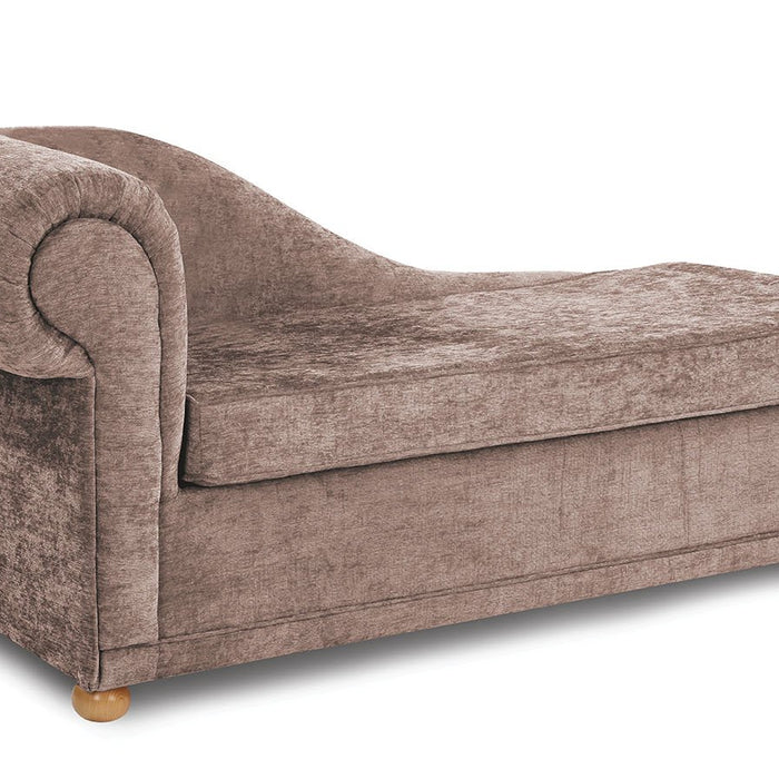 Highgrove Chaise Longue Sofabed Mink – Mirror Home on double chaise sofa bed, antique walnut bed, chaise sleeper bed, chaise lounge bed, chair bed,