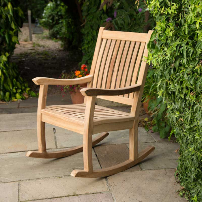 BrackenStyle Premier Teak Rocking Chair